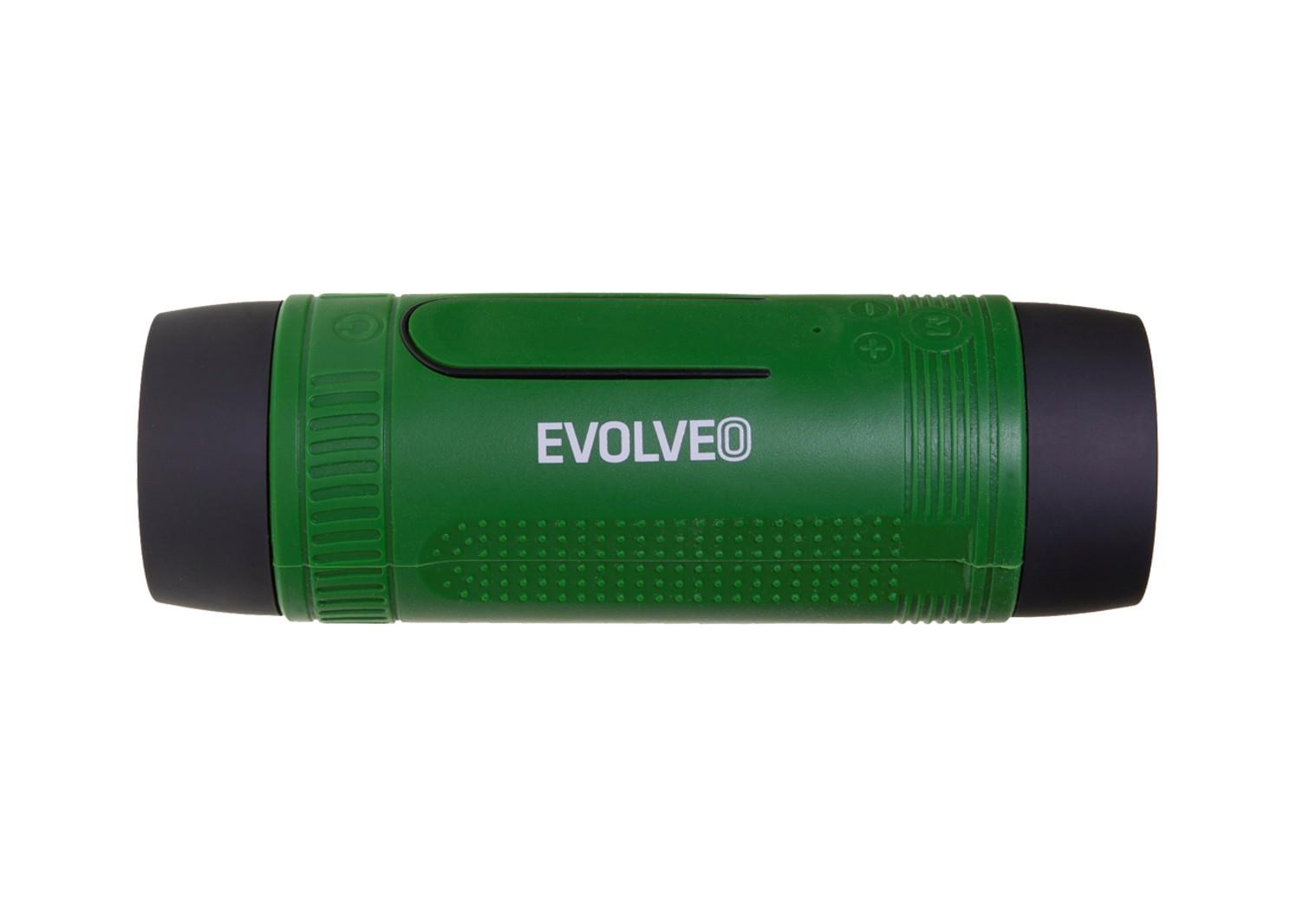 EVOLVEO Armor XL4, outdoorový Bluetooth reproduktor a MP3 přehrávač, BT4.0, LED svítilna, zelený