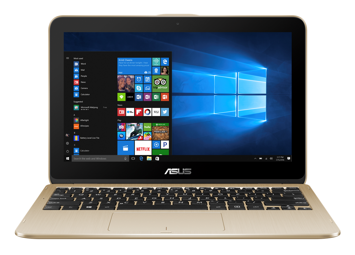 "ASUS TP203NA - 11,6T""/N3350/32GB/4G/W10 zlatý"