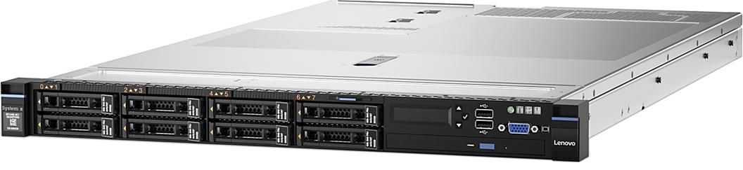 """System x TS x3550M5 Xeon 8C E5-2620v4 85W 2.1GHz/2133MHz/20MB, 1x16GB, 0GB 2,5"""" (4), M5210, FIO Entry, 750W"""