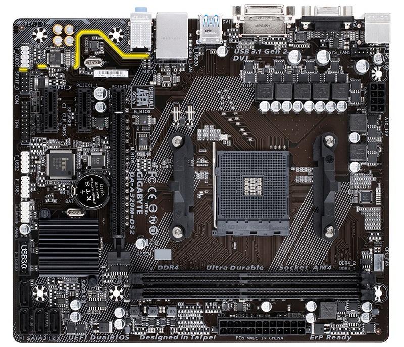 GIGABYTE MB Sc AM4 A320M-DS2 , AMD A320, 2xDDR4, VGA, mATX