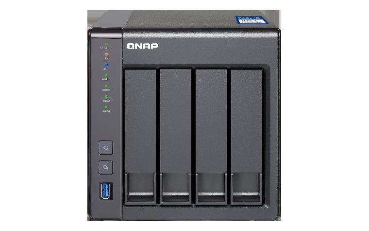 QNAP SMB TS-431X-2G, 4-bay, Tower, Annapurna 1.7 GHz Dual Core, 2GB DDR3, 2 x 10GbE SFP+ + 2 x GbE