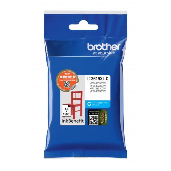 BROTHER INK LC-3619XLC azurový, cyan - 1300stran, J2330, J3530, J3930
