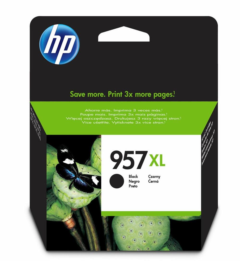 HP 957XL černá velká inkoustová kazeta, L0R40AE