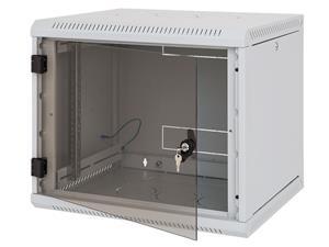 Nástěnný rack RUA 15U/500mm odn.boč+skl.dv.