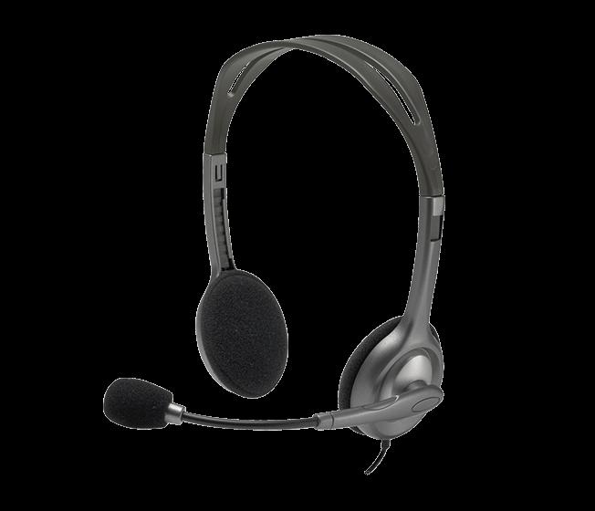 Logitech náhlavní souprava Headset H111, černá