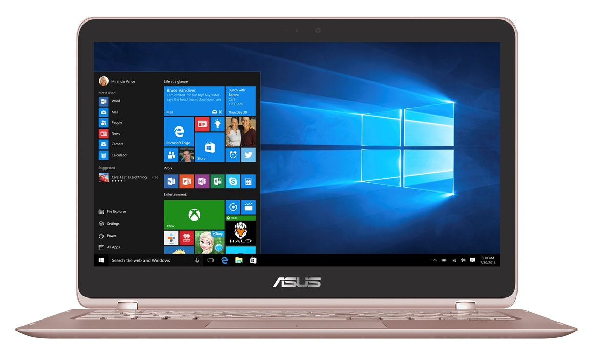 """ASUS UX360UAK-BB398T i5-7200U/8GB/256 GB SSD M.2/HD graphics/13.3"""" FHD Touch LED matný/W10 Home/Rose"""