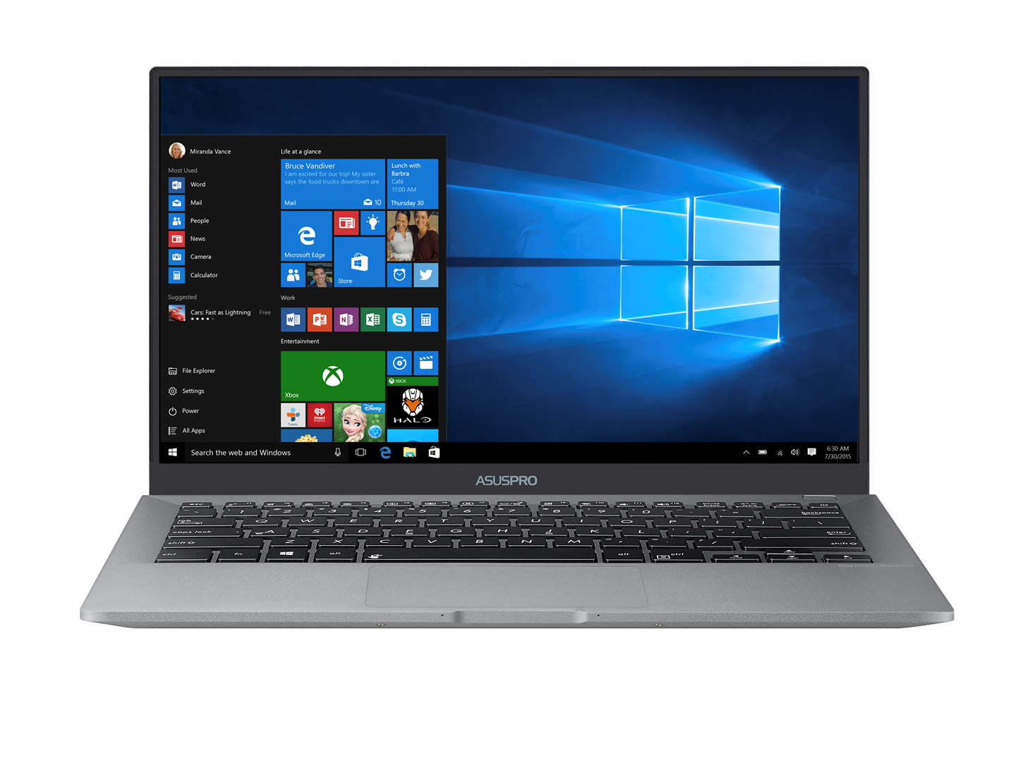 "ASUS B9440UA-GV0191R i7-7500U/8GB/512GB SSD M.2/HD graphics/14"" FHD LED matný/W10 Pro/Grey"