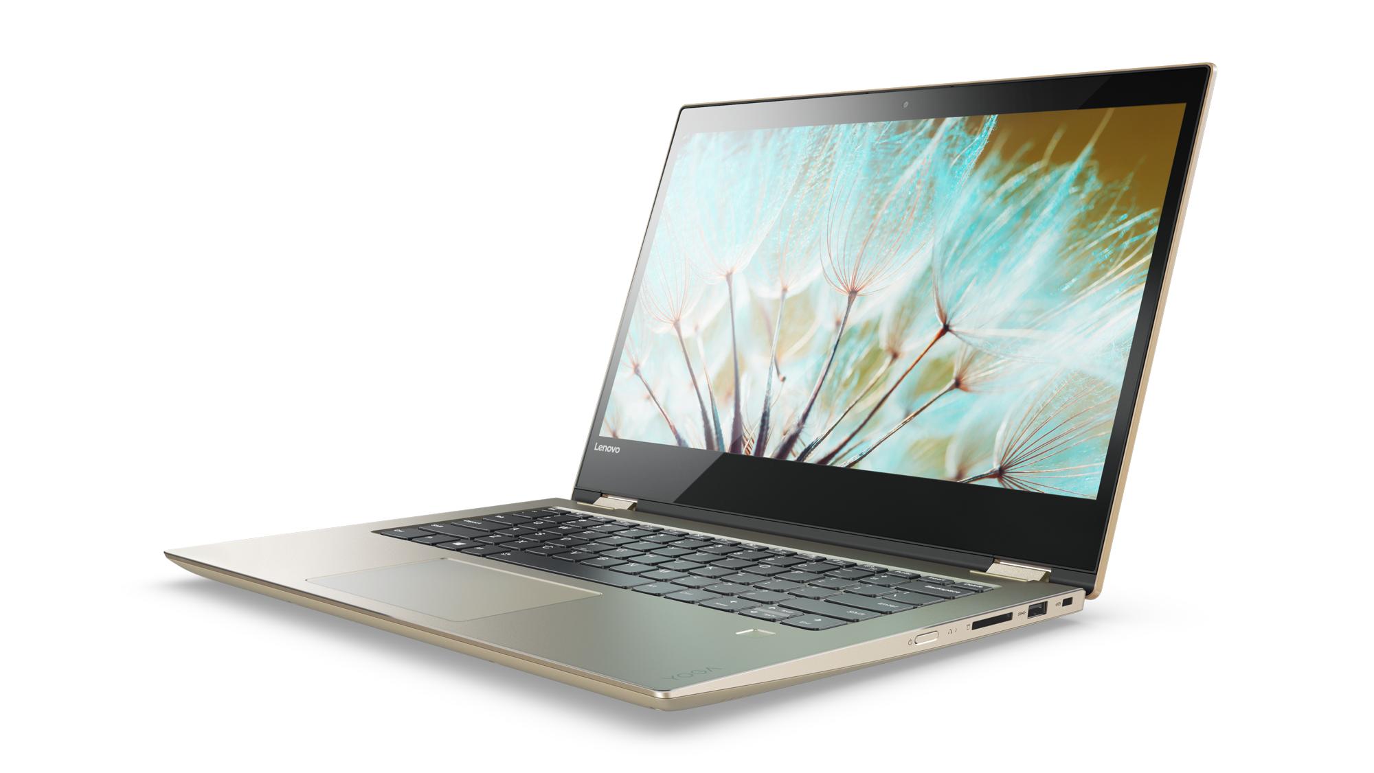 "Lenovo YOGA 520-14IKB Pentium-DC 2,30GHz/4GB/SSD 256GB/14"" FHD/IPS/AG/multitouch/FPR/WIN10 zlatá 80X8005ECK"