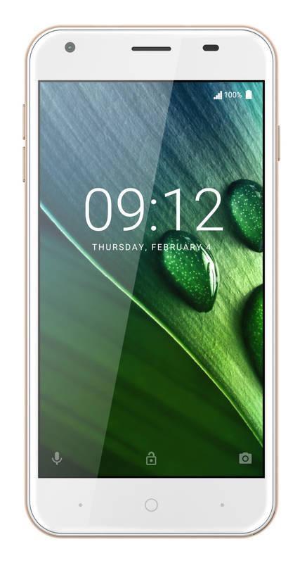 """ACER LIQUID Z6 LTE, 5"""" IPS 1280x720, 1,3GHz Quad-Core, ROM 8GB, RAM 1GB, kamera 8Mpx/2Mpx, zlatý, Android 6.0"""