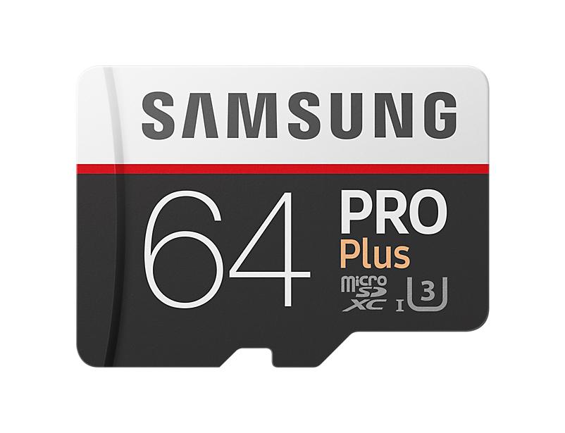 Samsung Micro SDXC karta 64GB PRO Plus + SD adaptér