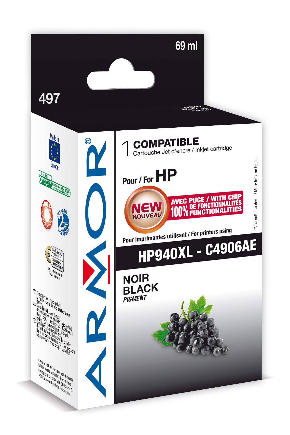 Armor ink-jet pro HP OJ 8000 (C4906A), 69ml, B