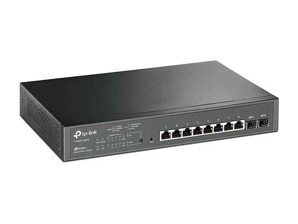 TP-Link T1500G-10MPS PoE+ Smart Switch 8x 10/100/1000 + 2x SFP slots, 116W