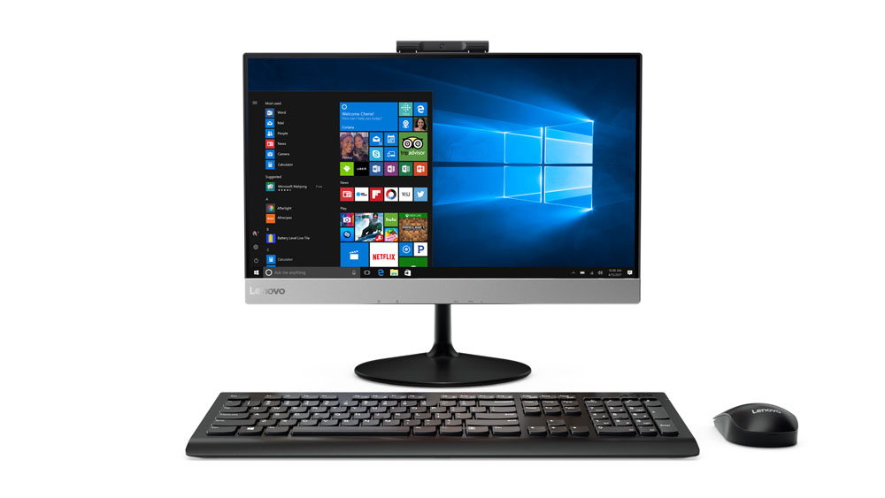 "Lenovo AIO V410z 21,5"" FHD/i3-7100/4GB/128GB SSD/Integrated/DVD-RW/Monitor/Win10"
