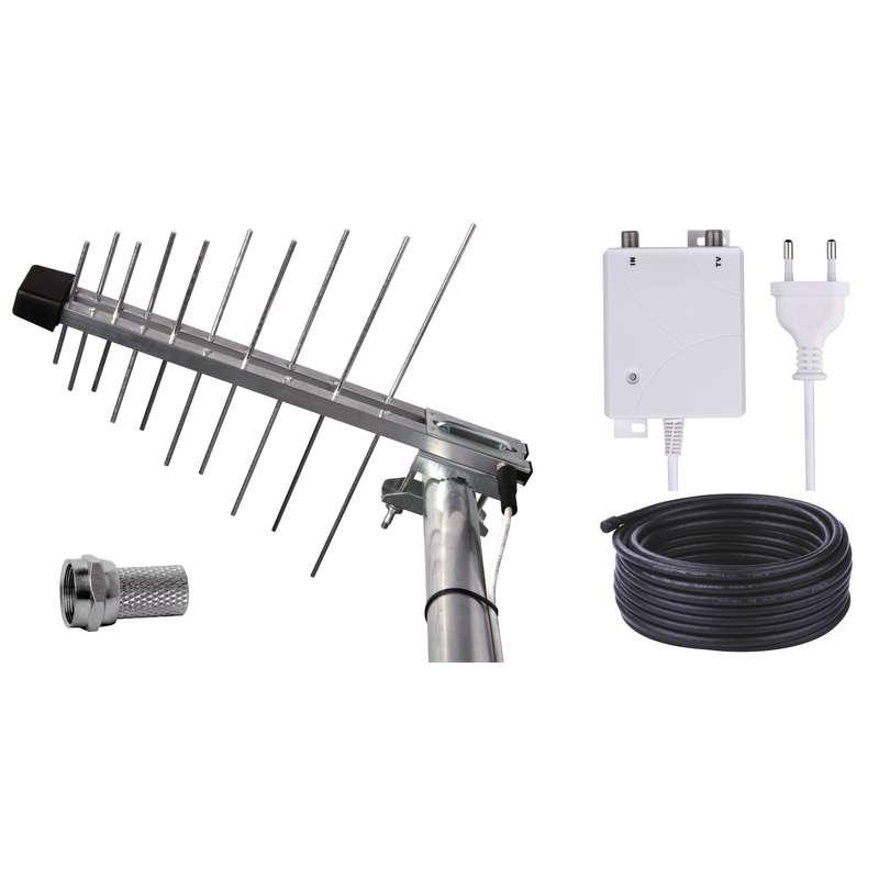 Emos anténa BEN-20 G/Z - DVB-T2/T anténa venkovní, 32 dBi, včetně zdroje