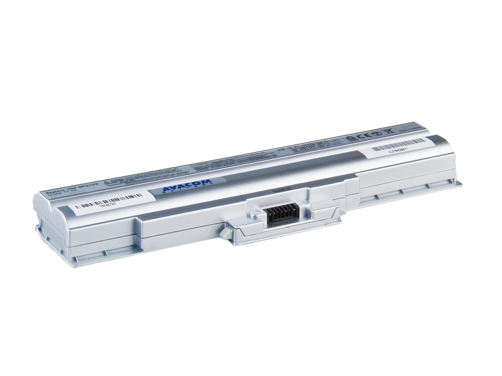 Baterie AVACOM NOSO-13SN-806 pro Sony VGN-FW11, VGP-BPS13 Li-ion 11,1V 5200mAh/58Wh silver