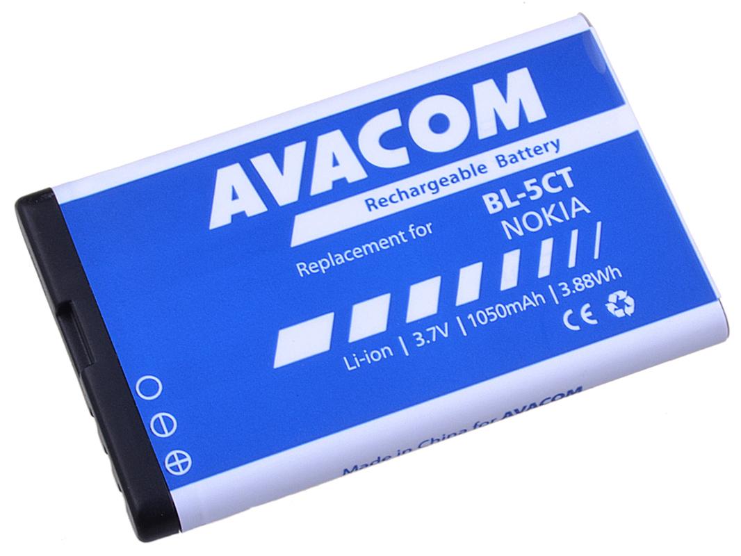 Náhradní baterie AVACOM Baterie do mobilu Nokia 6303, 6730, C5, Li-Ion 3,7V 1050mAh (náhrada BL-5CT)