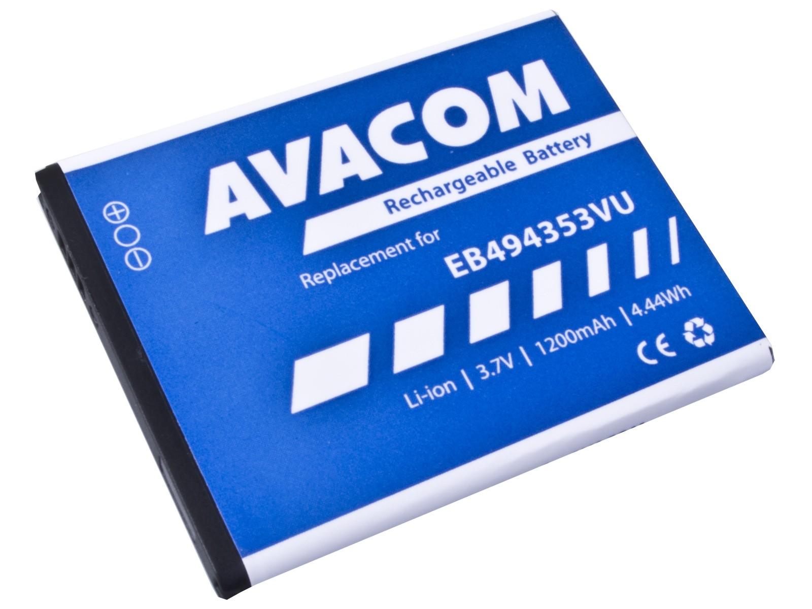 Baterie AVACOM GSSA-5570-S1200A do mobilu Samsung 5570 Galaxy mini Li-Ion 3,7V 1200mAh