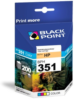 Ink Black Point BPH351 | Color | 10 ml | 200 p. | HP CB337