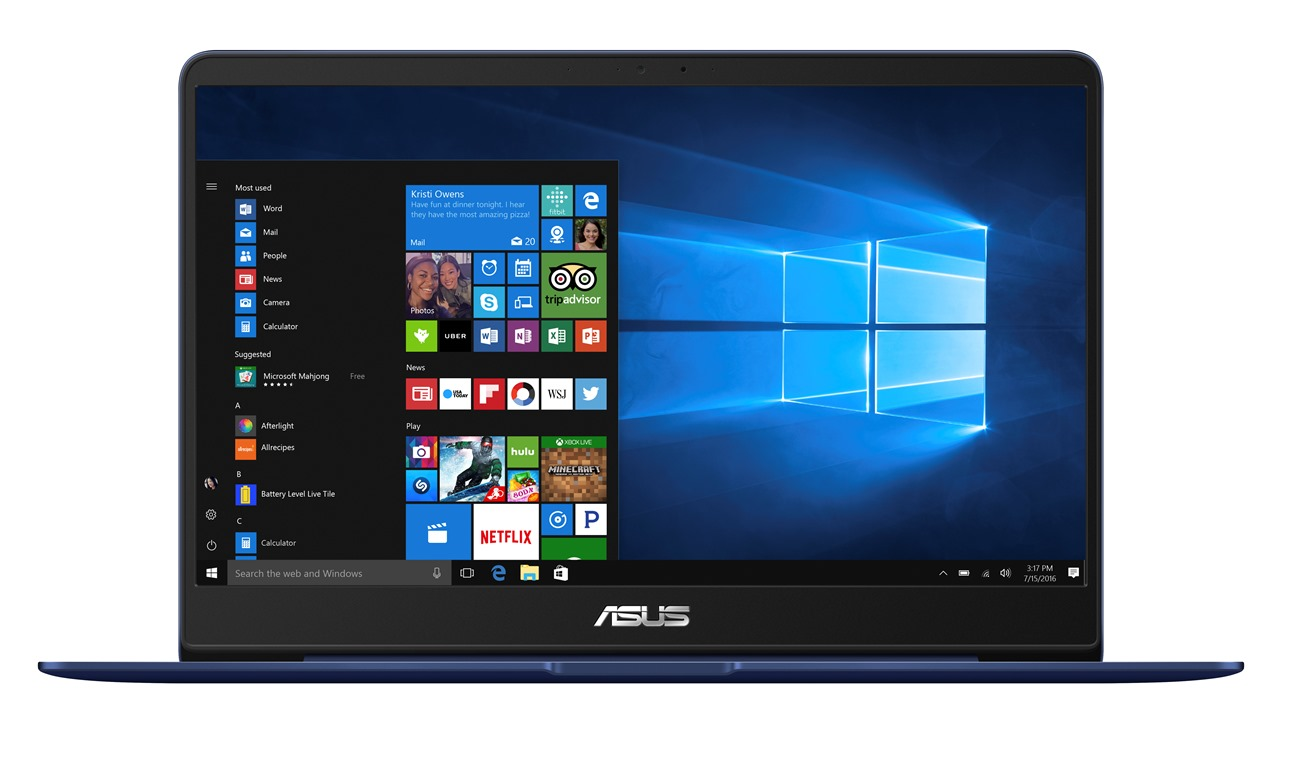 "ASUS UX430UA-GV004T i5-7200U/8GB/256GB SSD M.2/HD graphics/14"" FHD LED matný/W10 Home/Blue"