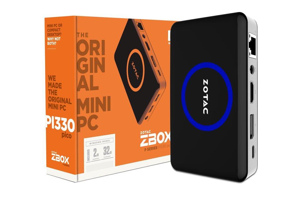 ZOTAC ZBOX PICO PI330, X5-Z8500, 2GB DDR3, 32GB eMCC, WIN 10, EU+UK PLUG