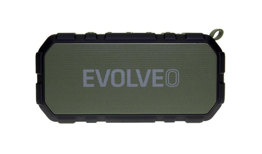 EVOLVEO Armor FX6, outdoorový Bluetooth reproduktor, 10W, FM, MP3 přehrávač, BT 4.2 EDR,microSD, zelený