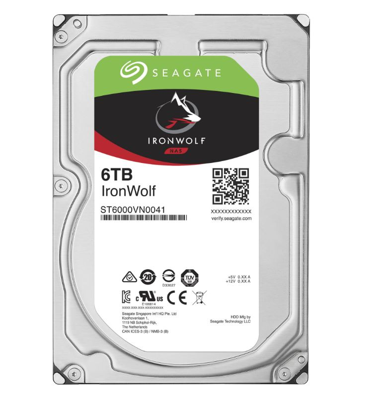 "Seagate IronWolf, NAS HDD, 6TB, 3.5"", SATAIII, 128MB cache, 7.200RPM"