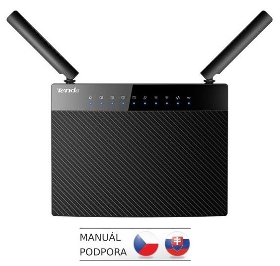 Tenda AC9 Wireless AC Router 1200Mb/s, 1x USB, 1x GWAN, 4x GLAN, FTP/VPN/SAMBA/Print Server, 2x 5dBi