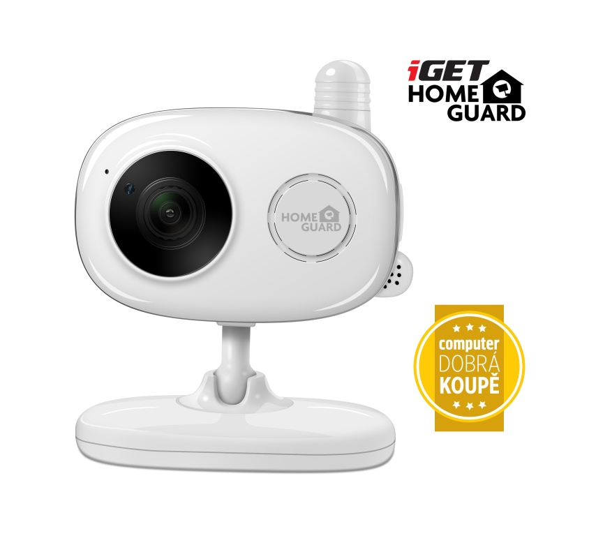 iGET HGWIP818 - bezdrátová IP FullHD 1080p kamera, měření teploty a vlhkosti, chůvička,ocenění Comp.