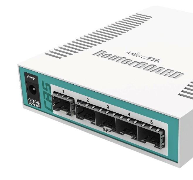 MikroTik Cloud Router Switch CRS106-1C-5S, 5x SFP + 1x Combo (SFP/ETH)