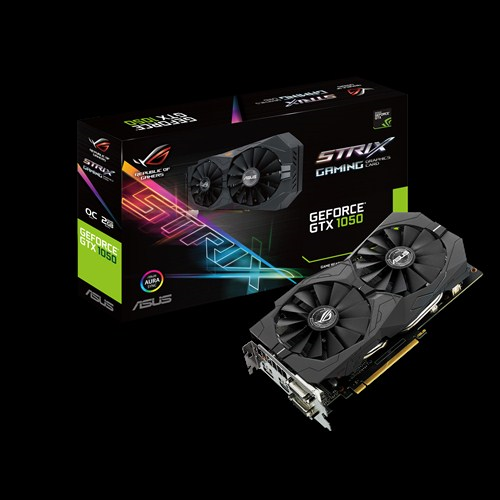 ASUS ROG Strix GeForce GTX 1050 OC, 2GB GDDR5, PCI Express 3.0