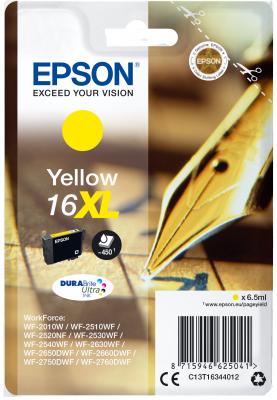 Epson Singlepack Yellow 16XL DURABrite Ultra Ink