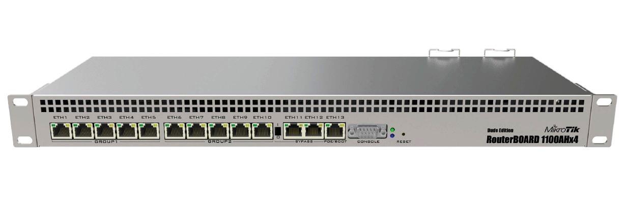 Mikrotik RB1100AHx4 1GB RAM,1400MHz,RouterOS L6,DE