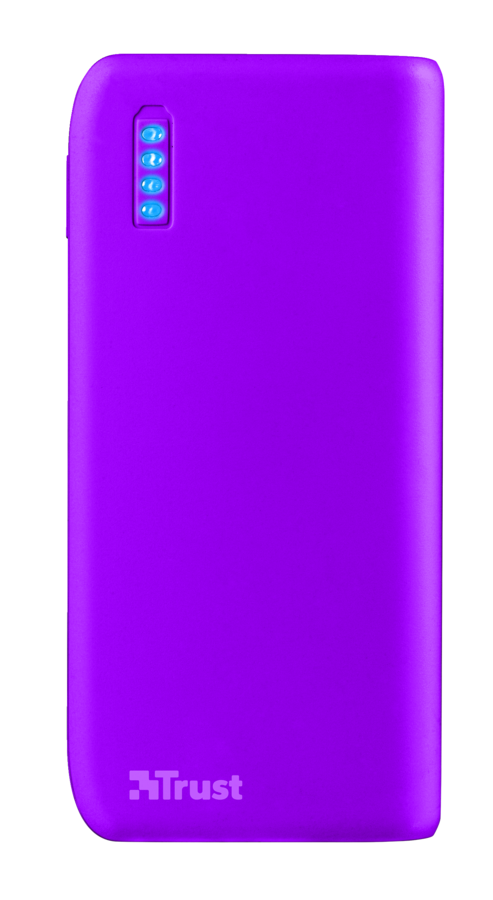 Trust Primo PowerBank 4400 Portable Charger - neon purple