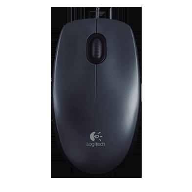 myš Logitech M100 optická, šedá, USB