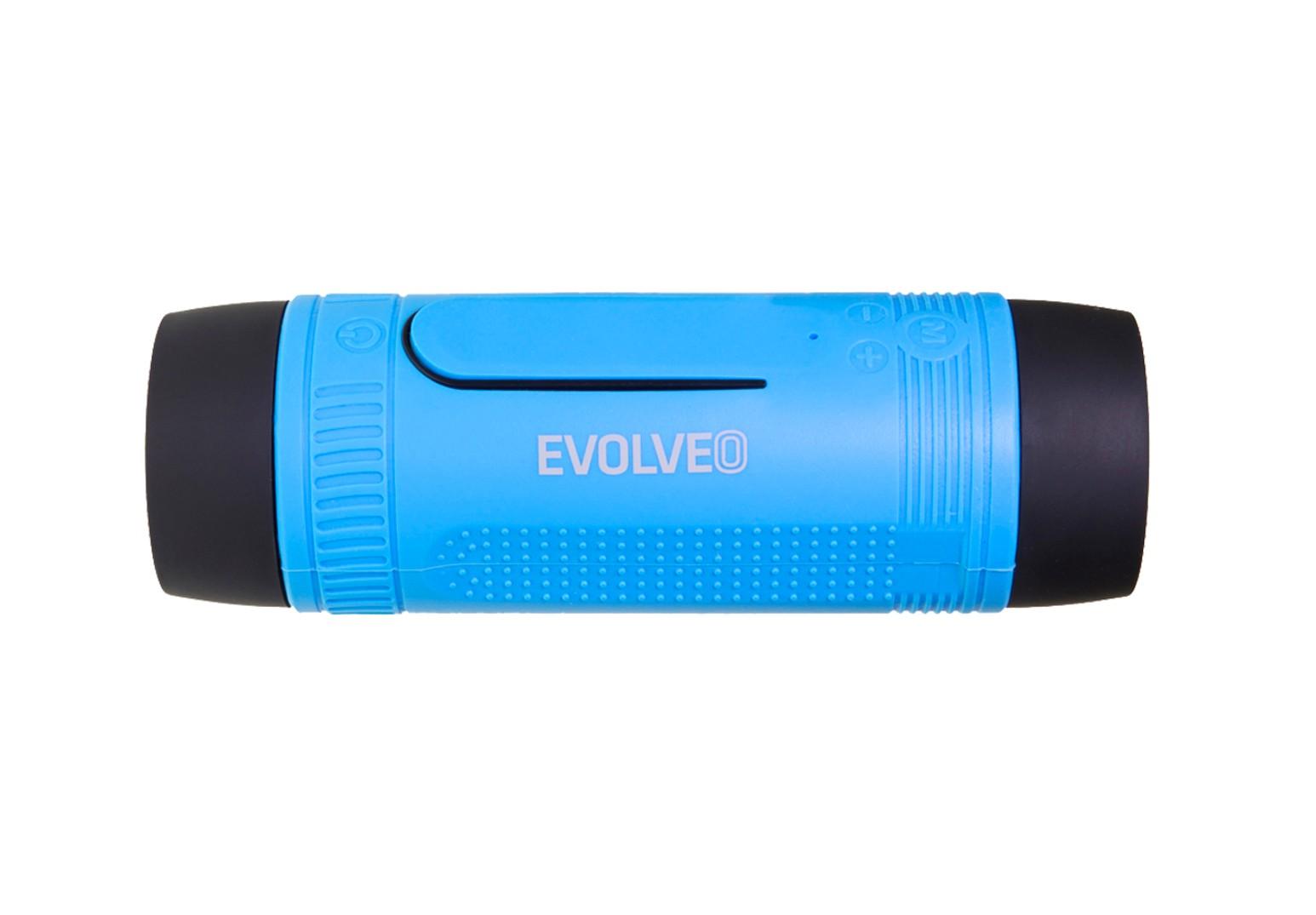 EVOLVEO Armor XL2, outdoorový Bluetooth reproduktor a MP3 přehrávač, BT4.0, LED svítilna, Modrý