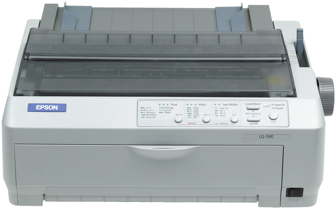 EPSON tiskárna jehličková LQ-590, A4, 24 jehel, 530 zn/s, 1+4 kopii, USB 1.1, LPT