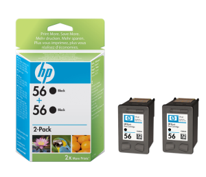 HP C9502AE Ink Cart No.56 pro DJ 5550, PS 7x50,7x60, 2x19ml, Black, (C6656A 2x)