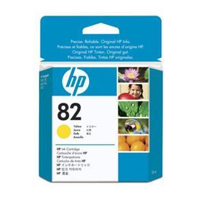 HP 82 Yellow DJ Ink Cart, 28 ml, CH568A