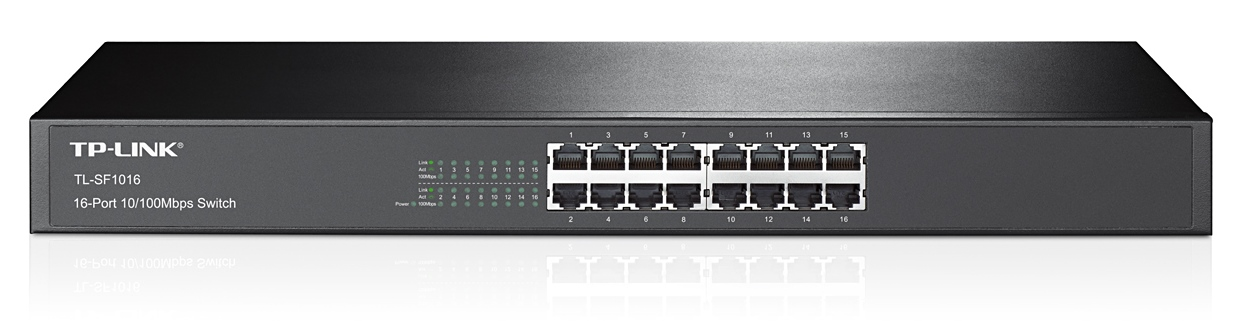 """TP-Link TL-SF1016 Switch 16xTP 10/100Mbps 19""""rackmount"""