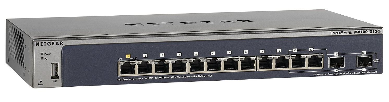 NETGEAR M4100 12x Gb,2x SFP,GSM5212