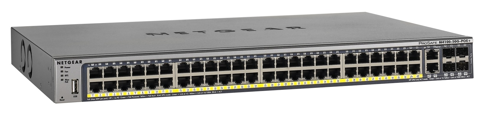 Netgear M4100-50G-POE+ L2 Managed Switch 50-Port PoE+ Gigabit (GSM7248P)