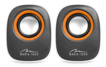 Media-Tech IBO stereo reproduktory, RMS 6W, USB, bílé