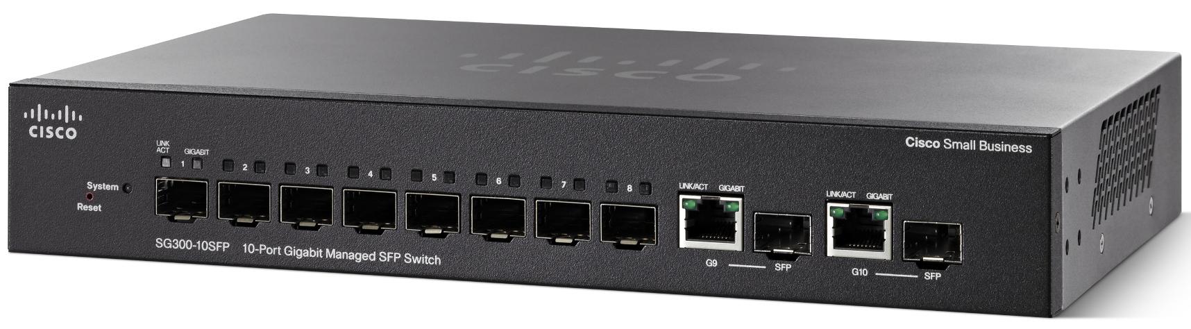 Cisco SG300-10SFP-K9-EU 10xGig Switch(8SFP+2Combo)
