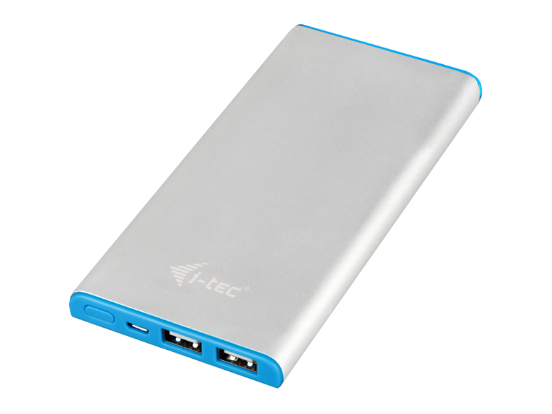 i-Tec Power Bank 8000 mAh Li-Pol, Metal, 2x USB, kabel 3v1