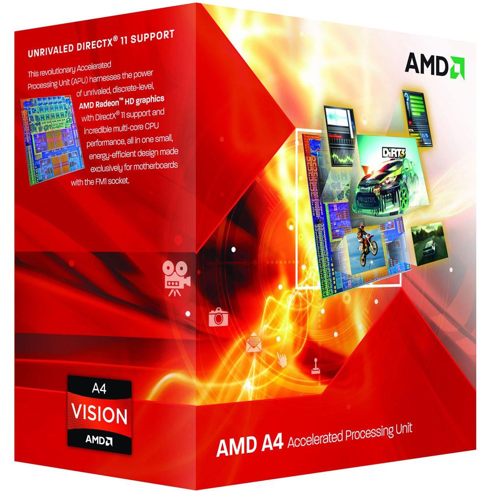 CPU AMD Richland A4-6320 2core Box (3,8GHz, 1MB)
