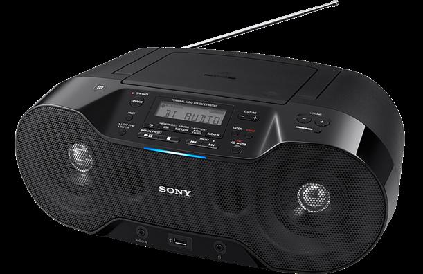 SONY ZS-RS70BTB Bezdrátový přehrávač CD Boombox