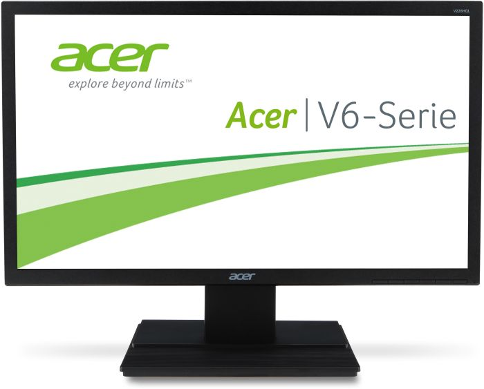 Acer LCD V226HQLbd 55cm (21.5'') LED, 1920 x 1080, 100M:1, 5ms, Black, DVI, TCO 6.0