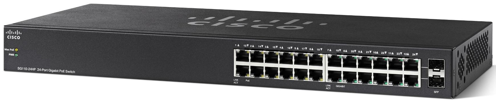 Cisco SG110-24HP 24-Port PoE Gigabit Switch