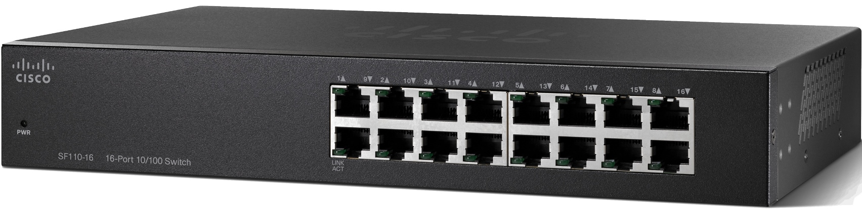 Cisco SF110-16-EU, 16x10/100 Desktop Switch