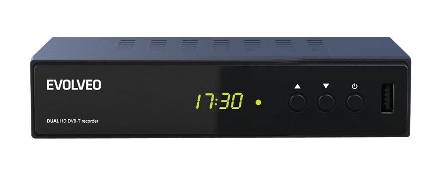 EVOLVEO Delta HD, Dual HD DVB-T rekordér, USB, HDMI, Scart, dig. koax, MKV, DiVX, MPG, MP3, MOV nebo JPEG